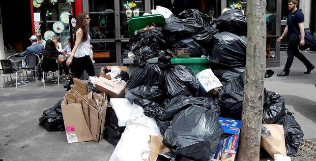 Sous les poubelles