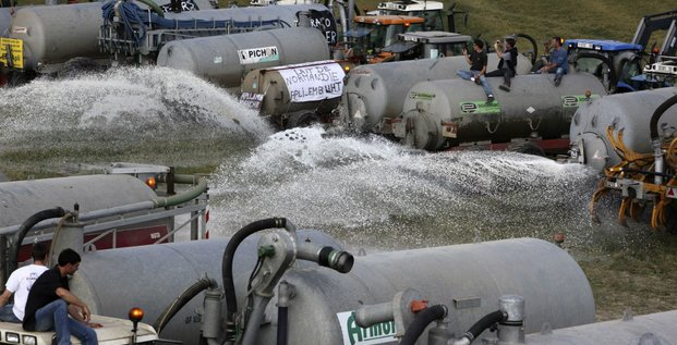 Manifestations des producteurs laitiers