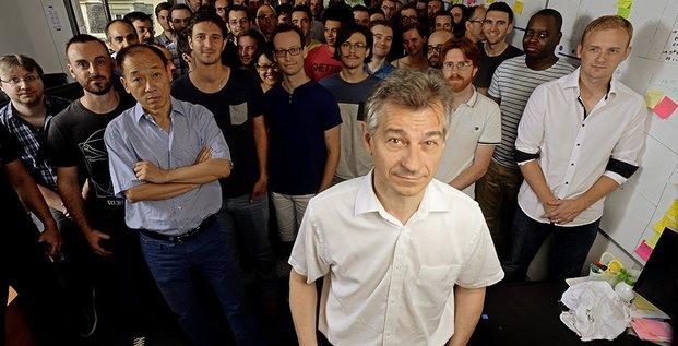 Esker : Jean-Jacques Bérard, entouré de son équipe (R&D)