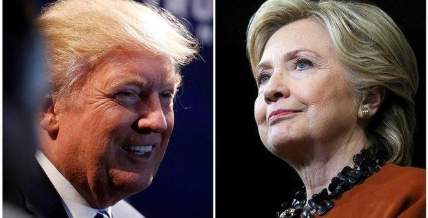 Clinton et trump en campagne en caroline du nord