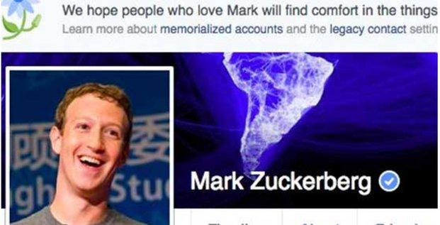 profil Zuckerberg Facebook