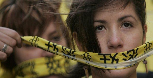 Manifestation à Sydney d'Amnesty International contre la censure du gouvernement chinois et la surveillance d'Internet en 2008