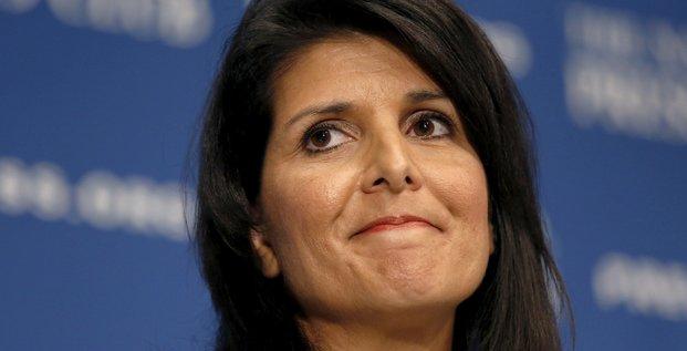 Nikki haley choisie la nouvelle ambassadrice americaine a l'onu