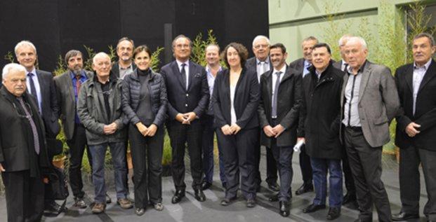 Election de François Commeinhes  à la tête de la nouvelle Communauté d'agglomération du Bassin de Thau, le 12 janvier 2017.