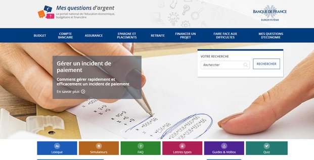 Capture du site mesquestionsdargent.fr