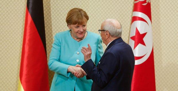 Merkel Tunisie Allemagne Essebsi