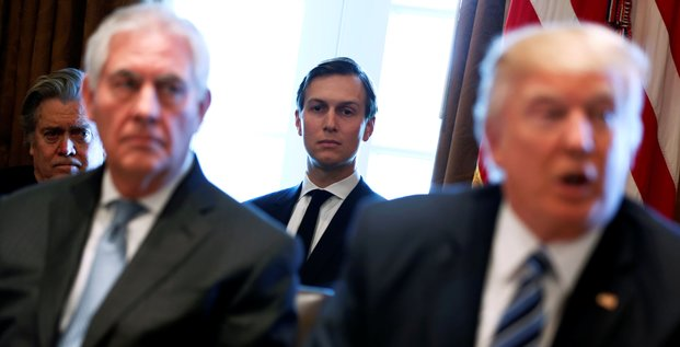 Jared Kushner, Donald Trump, Steve Bannon
