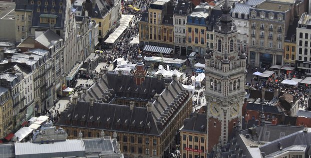 Vue aérienne de Lille en 2016