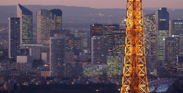 Paris, Eiffel, La Défense, immobilier, logement, ville, capitale, crépuscule,