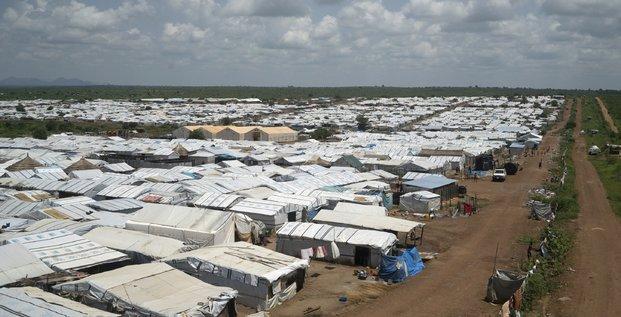 Camp de réfugiés au sud soudan