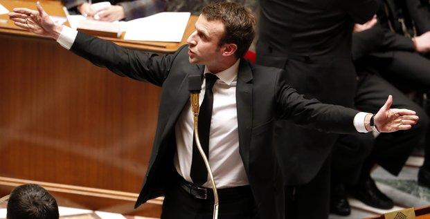 Macron, Assemblée nationale, 2015.02.17, ministre de l'Economie,