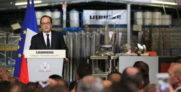 François Hollande, Liebherr Aerospace