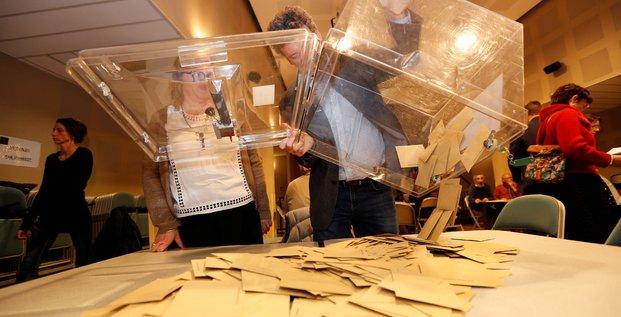 Vote, bulletins, bureaux, participation, nuls, blancs, suffrages, Le Pen, Macron,
