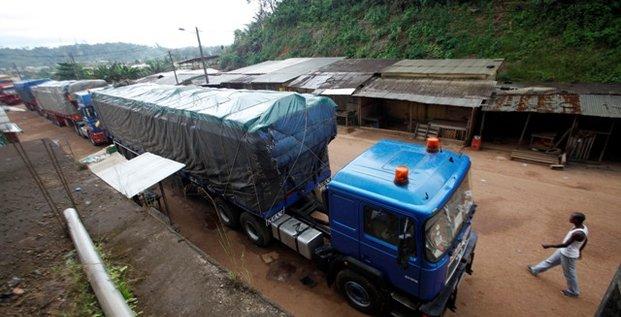Noé frontiere Côte d'Ivoire Ghana 2012 Transport marchandises camions