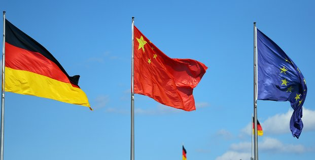Drapeaux chine allemagne europe