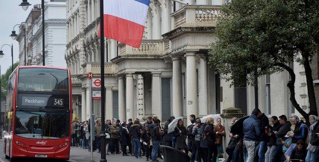A Londres, les expatriés français ont voté pour les deux scrutins. Ici, lors du second tour de la présidentielle, le 7 mai dernier.