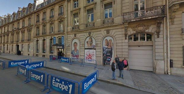 Siège d'Europe 1 dans le VIIIe arrondissement (via Google maps)