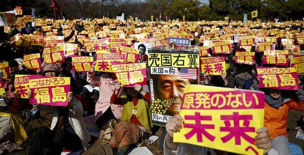 Japon, nucléaire, fukushima, énergie, manifestation, Tokyo, Abe,