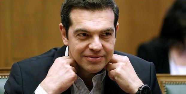 Tsipras favorable a l'idee de paris de lier dette et croissance