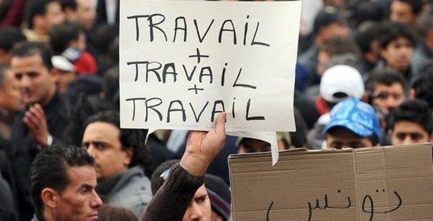 Tunisie manifestation chômage 2011