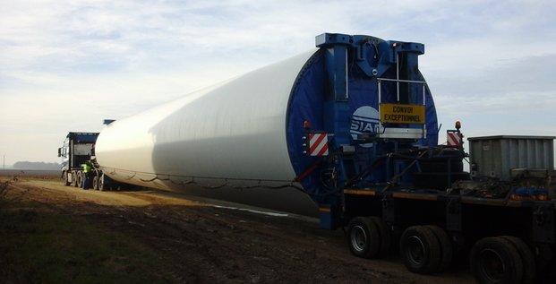 Pilon d'éolienne