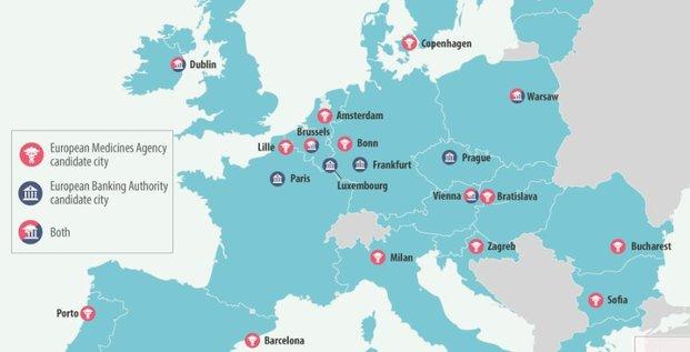 Brexit agences euro villes candidates