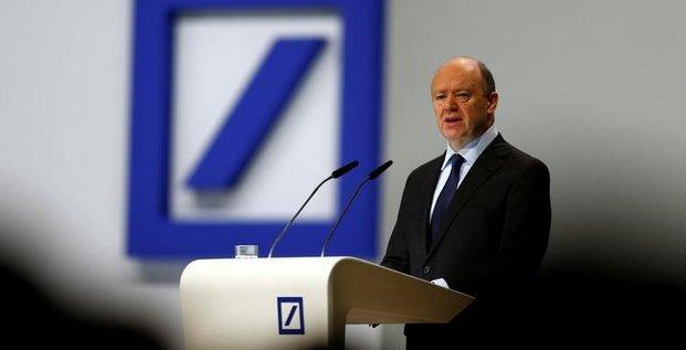 Deutsche bank: cryan n'a aucune intention de quitter ses fonctions