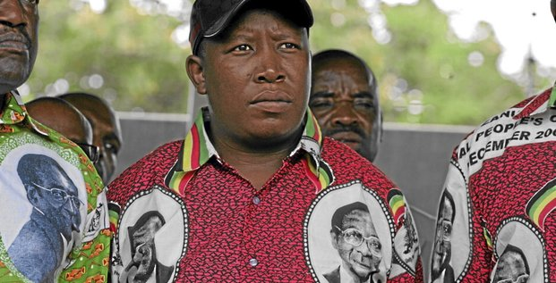 South Africa's African National Congress Youth League President Julius Malema attends a rally for Zimbabwe's ruling ZANU PF party at Stodat Grounds in Harare April 3 2010. REUTERS/Philimon Bulawayo (ZIMBABWE - Tags: POLITICS)