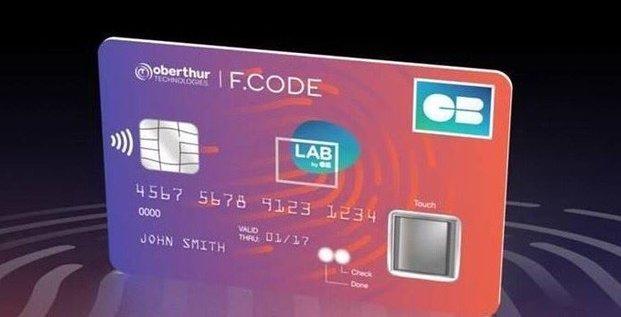 Carte bancaire biométrique CB