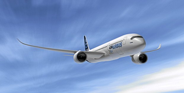 A computer rendition of the Airbus A350 is seen in this undated handout. Photograph courtesy Airbus S.A.S. via Bloomberg News<br />NO SALES