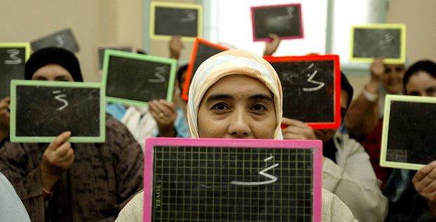 éducation maroc alphabétisation école femmes voile illettrisme