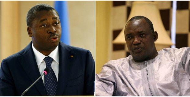 Collage Faure Gnassingbé Adama Barrow Togo Gambie