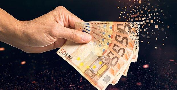 fin du cash, argent virtuel, e-monnaie, billets, paiement électronique, espèces, liquide, digitalisation, numérique,