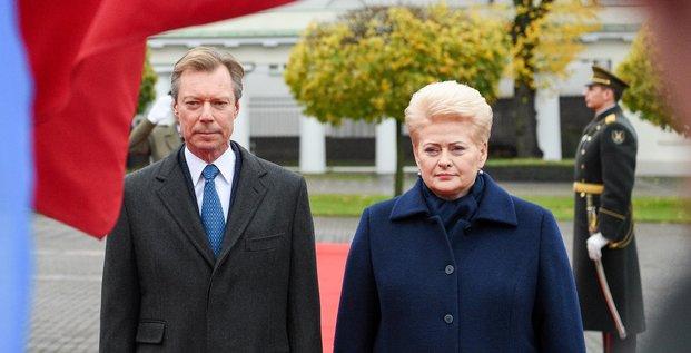 Lituanie, Dalia Grybauskaitė, Grand Duc Henri du Luxembourg, énergie, Vilnius,