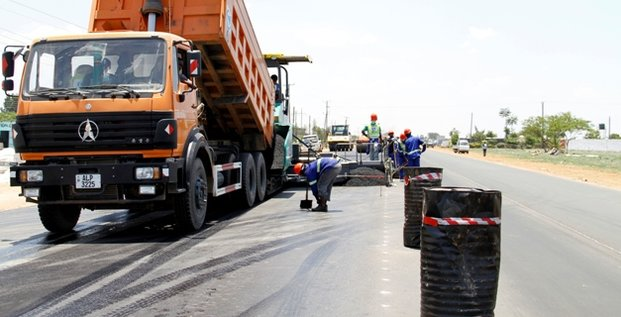 Travaux route Lusaka Zambie infrastructures
