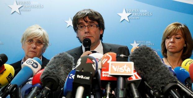 Carles Puigdemont le 31 octobre 2017 à Bruxelles (Catalogne, Espagone)