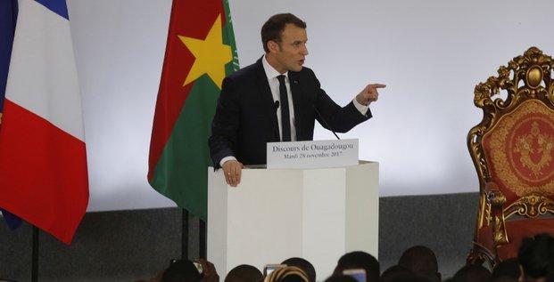 Emmanuel Macron à ouagadougou Burkina