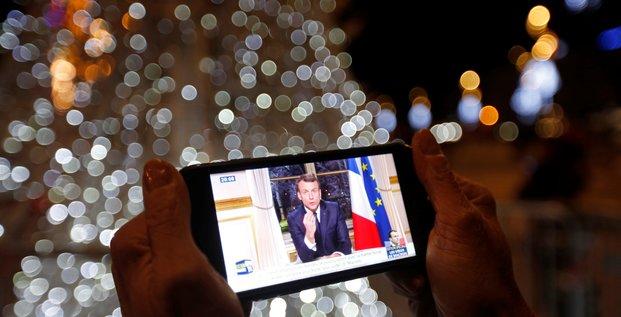 Macron appelle les francais a la concorde et l'europe au sursaut