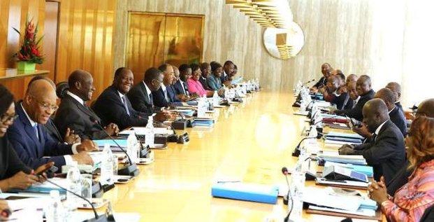 Conseil ministres gouvernement Ouattara Côte d'Ivoire