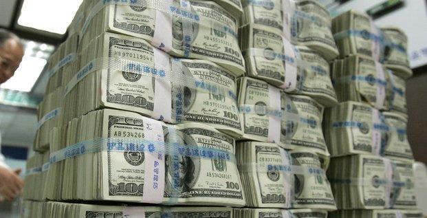 Dollar, billets, Etats-Unis, monnaie, Corée du Sud, Asie,
