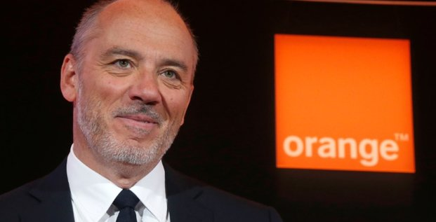 French telecom operator orange ceo stephane richard poses before the company's 2016 annual results presentation in paris