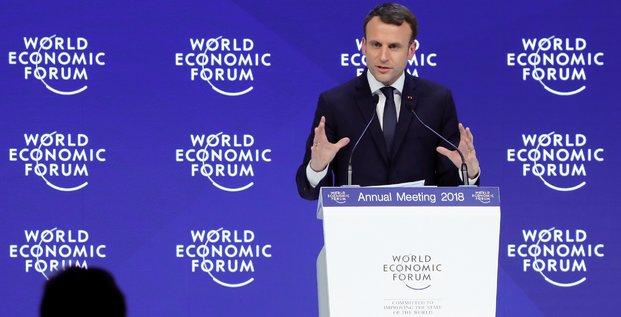 Macron, Davos,