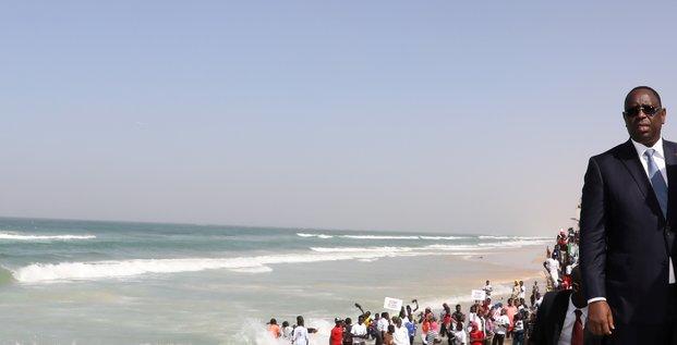 Macky Sall Macron Sénégal France eaux littoral saint louis plage banque mondiale