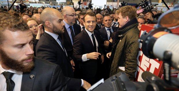 Macron au salon de l'agriculture pour une journee marathon