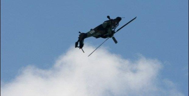 Tigre, Airbus Helicopters, Un hélicoptère Tigre de l'armée de l'air française effectue une figure à l'occasion du Salon du Bourget, le 16 juin 2009