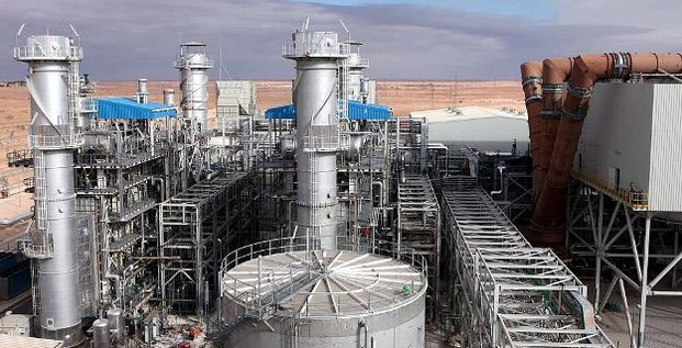La centrale électrique mixte Hassi R'mel Algérie