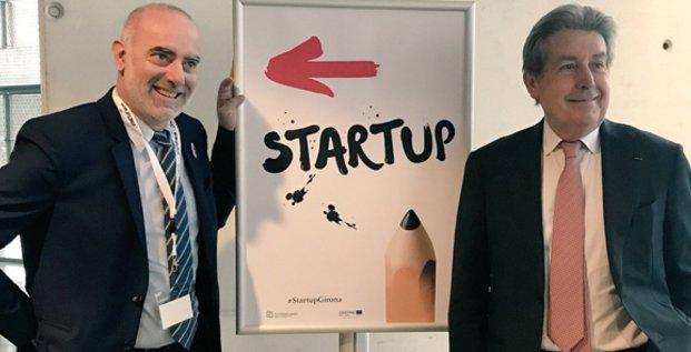 L. Gauze (PMI) et B. Fourcade (CCI 66) sont deux des fondateurs du projet