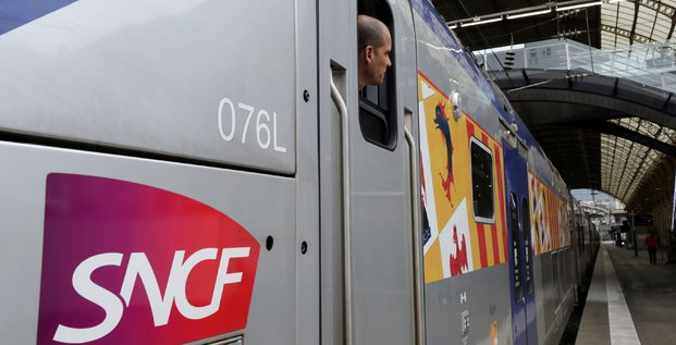 A train conductor is seen at the nice railway station on the second day of a nationwide strike by french sncf railway workers in nice