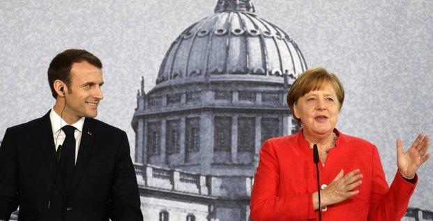 Macron Merkel Berlin avril 2018