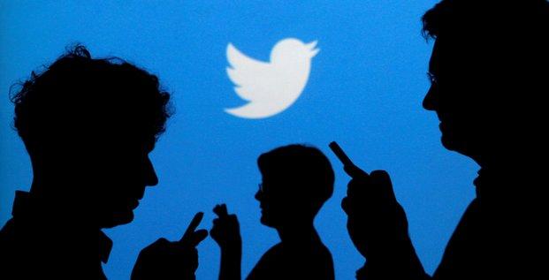 Twitter, logo, silhouettes, internautes, usagers, réseau sociaux,